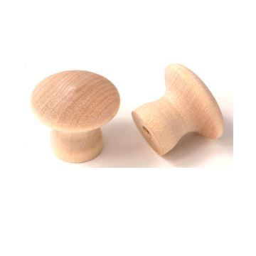 "Picture of 1-1/4"" Unfinished Knob (K-101.OAK)"