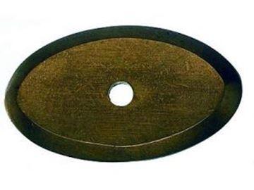 """Picture of 1 1/2"""" Oval Aspen Back Plate"""