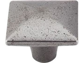 """Picture of 1 3/8"""" Square Iron Knob Smooth"""