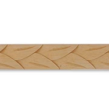 """Picture of 1 1/4"""" W x 1/2"""" THK Wood Moulding"""