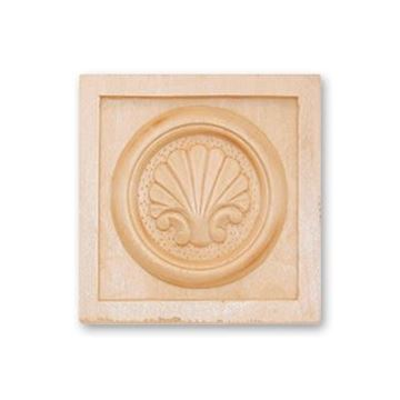 """Picture of 3-1/4"""" X 3-1/4"""" X 3/4"""" Handcarved Rosette"""