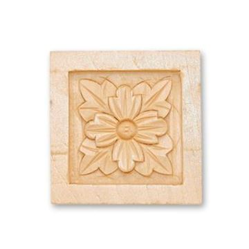 """Picture of 2-1/2"""" X 2-1/2 X 3/4 Handcarved Rosette"""