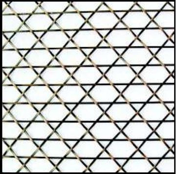 "Picture of 18""X 48 Caned Wire Mesh Grille Pattern"