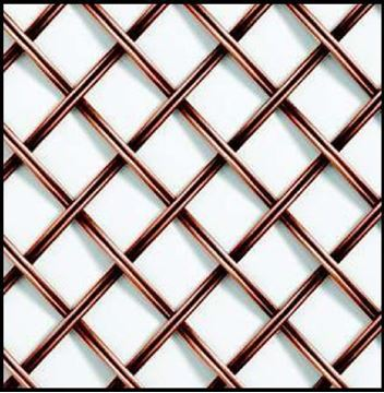 "Picture of 18""X 48"" Single Crimp Wire Mesh Grille"
