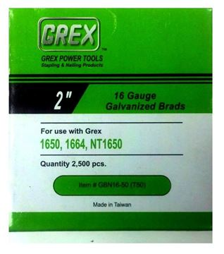 "Picture of GREX Galvanized Brad Nailsfor 16 Gauge (2"" Length)"