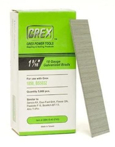Picture Of GREX Galvanized Brad Nails For 18 Gauge 1 9 16