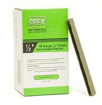 """Picture of GREX Crown Galvanized Staples (1/2"""" Lenght)"""