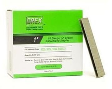 """Picture of GREX Crown Galvanized Staples (1"""" Length)"""