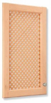 Picture of Mini Diagonal Lattice Door Insert White Oak (LATDS2448WO)