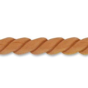 Picture of Architectural Half Rope Moulding Whitewood (893WW)