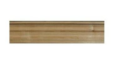 """Picture of 1 1/2"""" w X 3/4"""" THK Fluted Half Round Moulding Alder (974A)"""