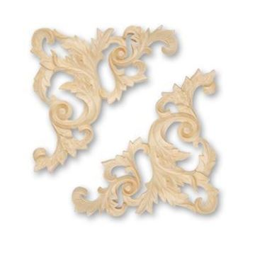 Picture of Copy of Handcarved Corners  Pairs Whitewood (1774WW)