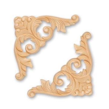 Picture of  Handcarved Corners Pairs Walnut (346W)
