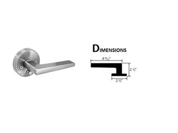 "Picture of 2-1/2"" x 2-1/2"" Atlas Passage Entry Lever Lock set (Reversible)"
